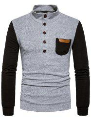 Pull homme col montant avec poche simple -