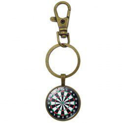European and American Retro Time Gemstone Key Chain for Decoration -