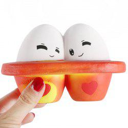 Squishy Pressure Relieved Back-to-back Eggs Toy -