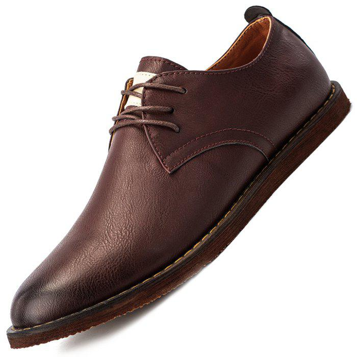Affordable Men Casual Shoes Cowskin Lace Up