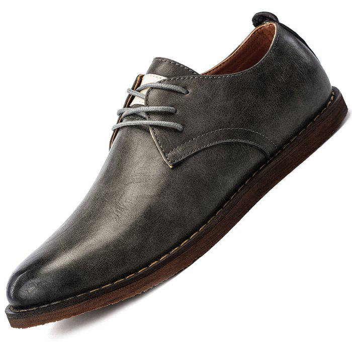 New Men Casual Shoes Cowskin Lace Up