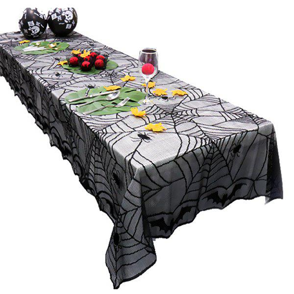Store Warp Knitted Lace Mesh Fabric Tablecloth for Halloween Decoration