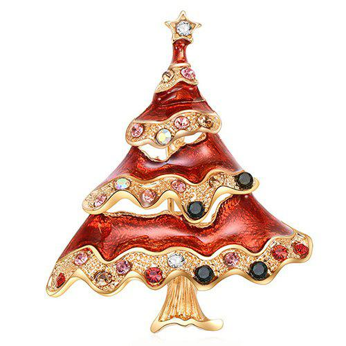 Outfit Christmas Tree Style Beautiful Brooch for Women