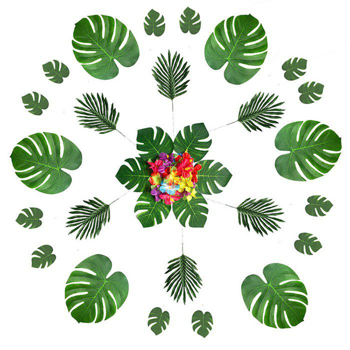 Best Hawaii Turtle Leaf Hibiscus Artificial Flowers 60pcs