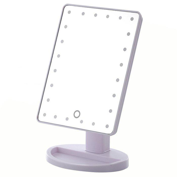Fashion KW033 24-LED USB / Battery Powered Base Table Mirror