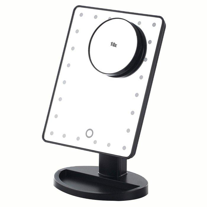 Shops KW033 24-LED Base Table Mirror + 10X Magnifying Glass