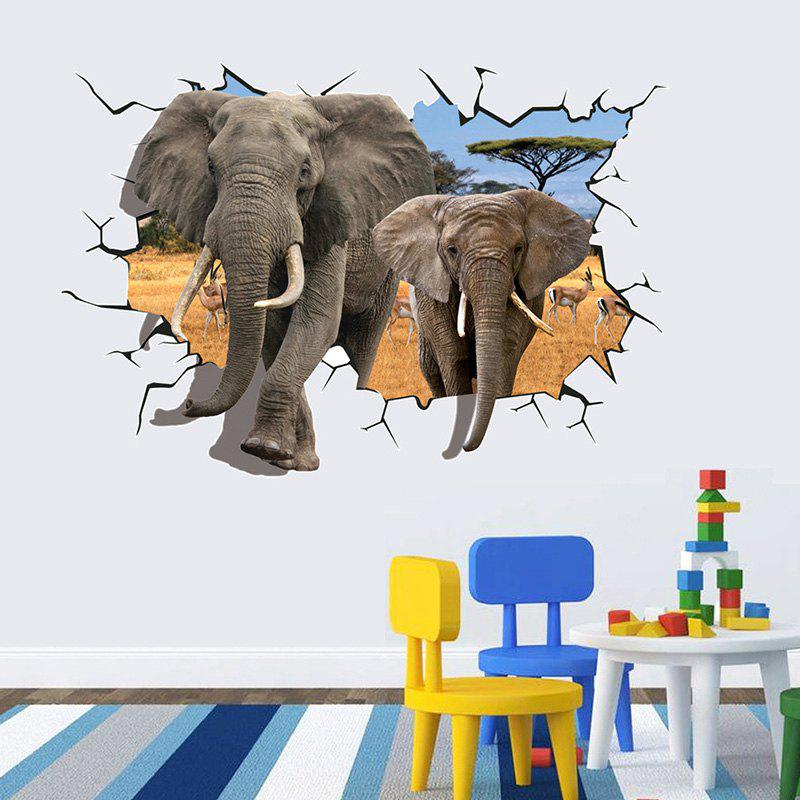 AY8006 Elephant 3D Special Effects Wallpaper