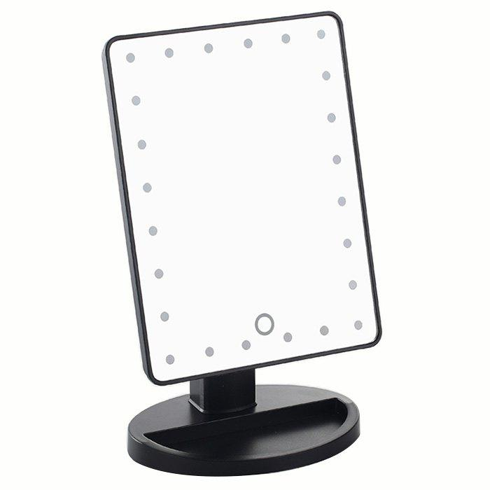 Fancy KW033 24-LED Battery Powered Base Table Mirror