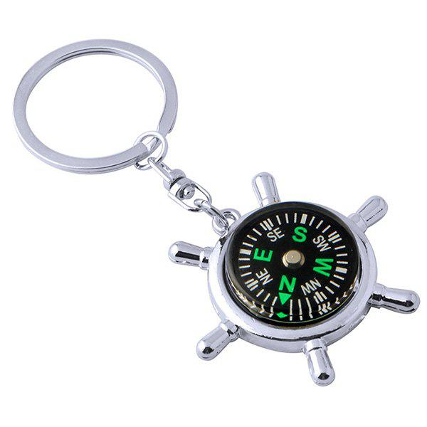 Latest Personality Compass Metal Car Key Ring Chain