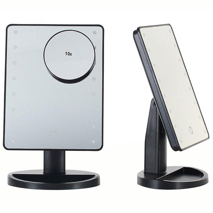 Buy KW033 16-LED Table Mirror + 10X Magnifying Glass