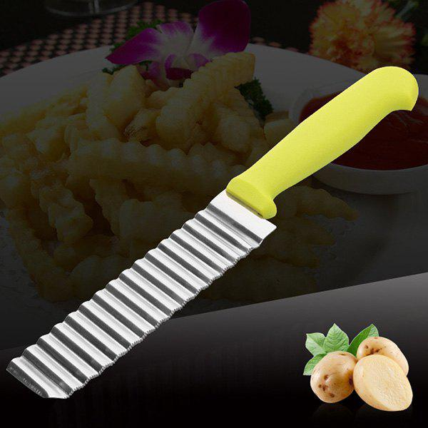 Online French Style Stainless Steel Wave Professional Potato Cutter Ripple Knife
