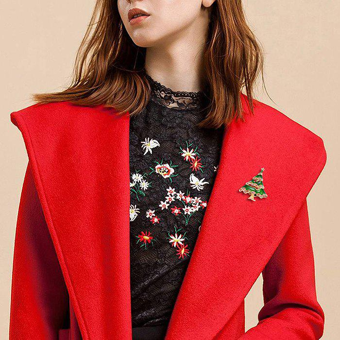 Store Alloy Christmas Tree Pattern Brooch for Garment Accessory