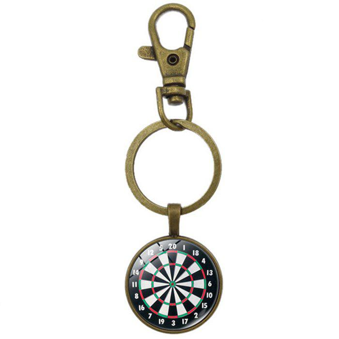 Shops European and American Retro Time Gemstone Key Chain for Decoration