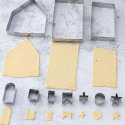 3D Christmas Stainless Steel Gingerbread House Molding DIY Baking Tool Set -
