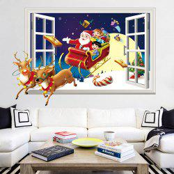 3D New Christmas Removable Wallpaper for Room Decoration -