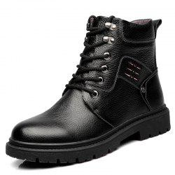 Men Boots Genuine Leather Lace Up Wearable Anti-slip -