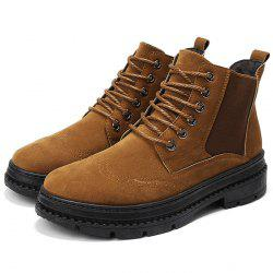 Men Boots Casual Lace Up Wearable Anti-slip -