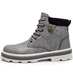 Men Boots Lace-up High-top -