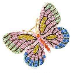 Broche en alliage avec strass -
