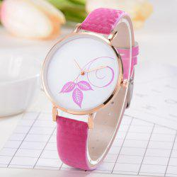 Montres Femme Simple Mode - Rouge Rose