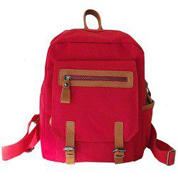 Literary Trend Female Backpack for Outdoor Travel -