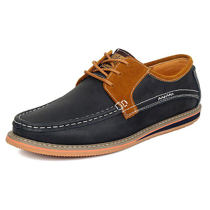 Discount Men Stylish Flat Shoes Casual Leather Comfortable