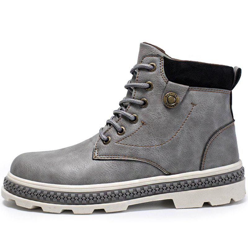 Store Men Boots Lace-up High-top