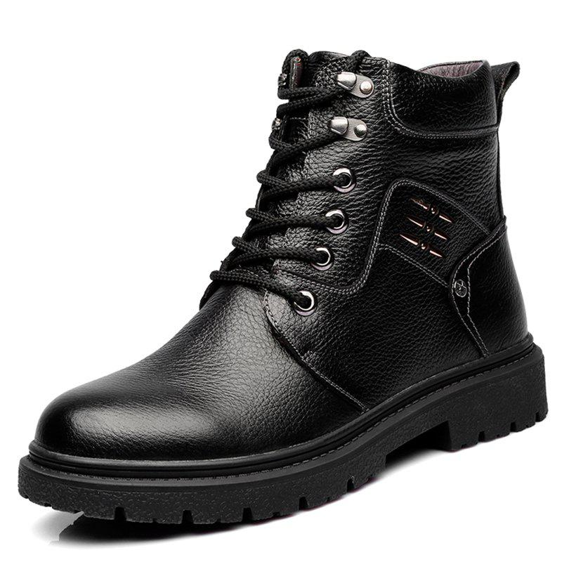 Hot Men Boots Genuine Leather Lace Up Wearable Anti-slip
