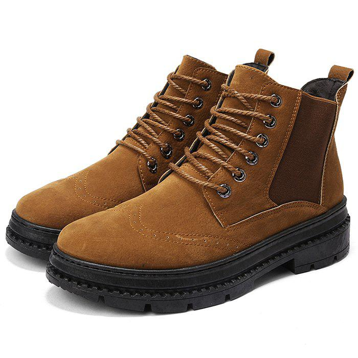 Outfits Men Boots Casual Lace Up Wearable Anti-slip
