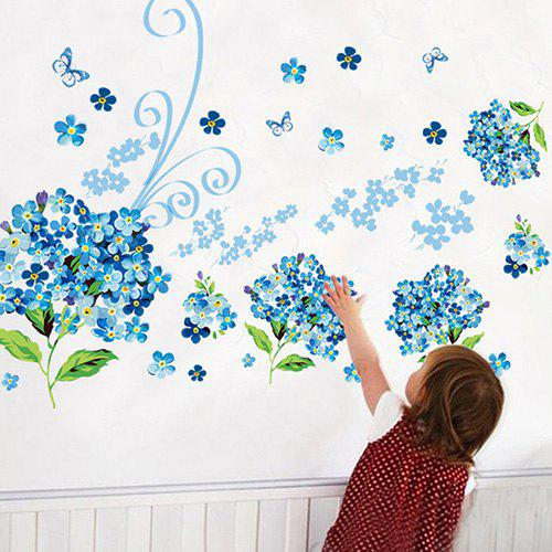 Outfit AY913 Blue Flower Sea Living Room Wallpaper