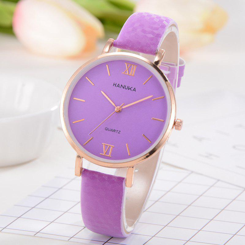 Femmes PU Band Watch Fashion