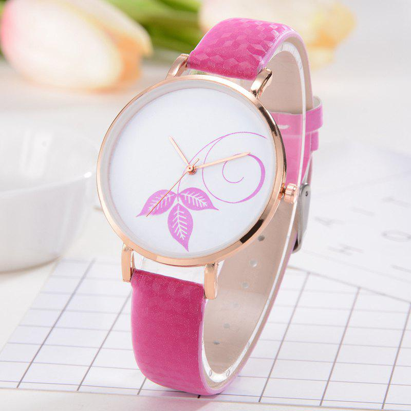 Montres Femme Simple Mode Rouge Rose