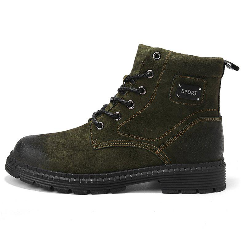 Latest Men Boots Lace Up Casual Wearable Anti-slip