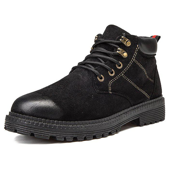 New Men Boots Breathable Lace-up Shoes Retro