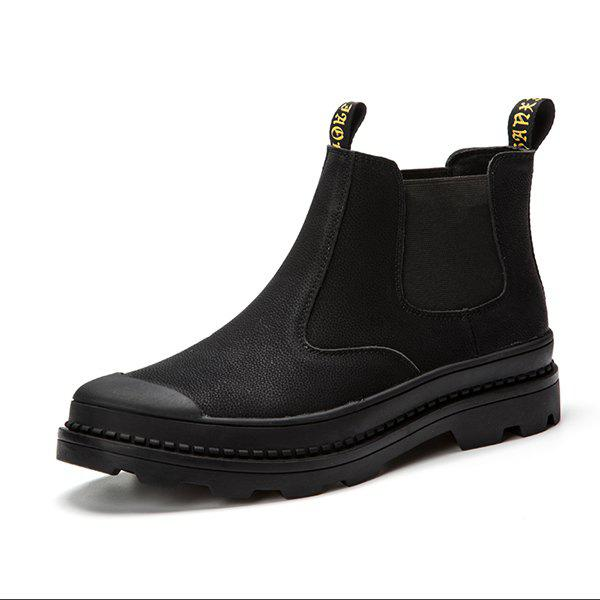 Chic Men Comfortable High-top Shoes Leather Casual Fashion