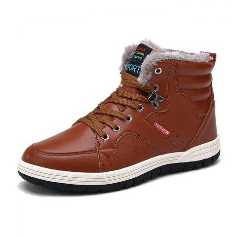 Men Warm Casual Leather Shoes Comfortable Sports Winter