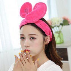 Adjustable Rabbit Ears Face Washing Hairband -