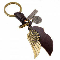 Fashion Contracted Creative Alloy Wing Key Ring -
