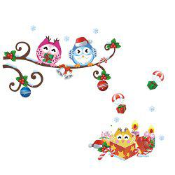 ZY1012 Owl Pattern Wall Sticker for Decoration -