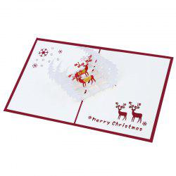 Creative 3D Reindeer Design Greeting Card -