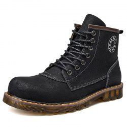 Men Lace-up Boots Fashion High-top Comfortable -