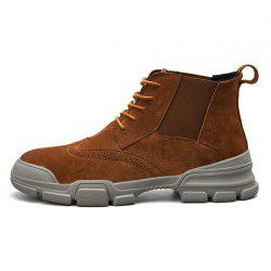 Men's Fashion Solid Color High Top Boots -