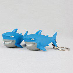 Shark Style Key Chain with LED Light / Sound Gift 1pc -
