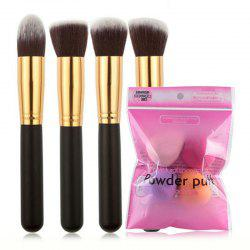 SET1052 Facial Makeup Brush Powder Puff Set -