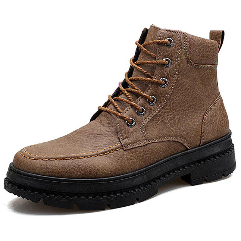 Discount Men Boots Fashion High-top Lace-up Comfortable