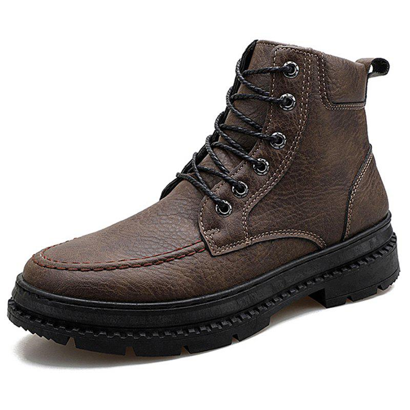 Chic Men Boots Fashion High-top Lace-up Comfortable
