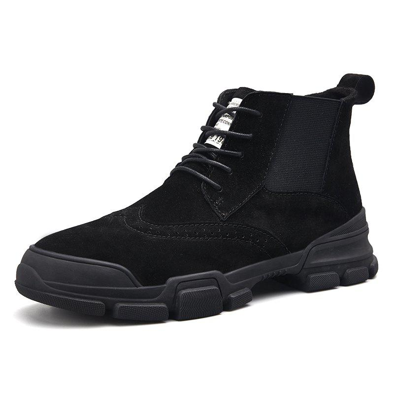 Outfit Men's Fashion Solid Color High Top Boots