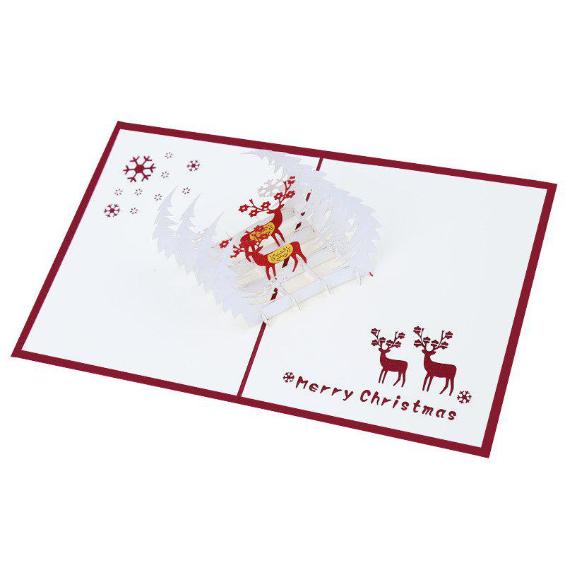 Best Creative 3D Reindeer Design Greeting Card