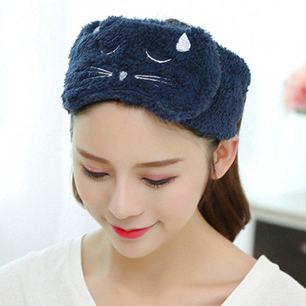 Cheap Adjustable Embroidery Cat Face Washing Hairband