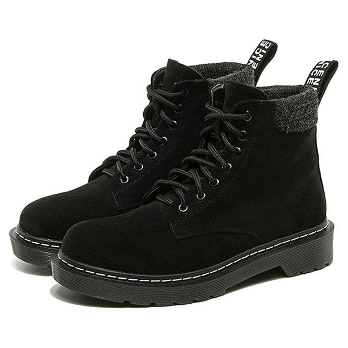 Buy Women Boots Short Lace-up Fashion